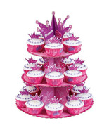 Pink Princess Cupcake Stand Tower Display Girls Birthday Party Centerpie... - $21.35