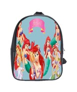 Scb0016 backpack school bag animation disney movie ariel the bea thumbtall