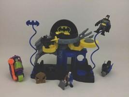 Batman Bat Cave Super Friends Imaginext Playset Lot w Two Face Joker Mot... - $49.45