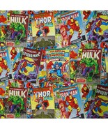 Marvel Comics Superhero Fabric Superman Hulk Thor Captain America Iron M... - $14.84