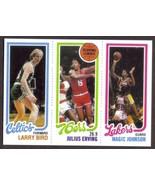 LARRY BIRD Dr J MAGIC JOHNSON Rookie Card RP #34 #174 #139 RC 1980 T Fre... - $2.95