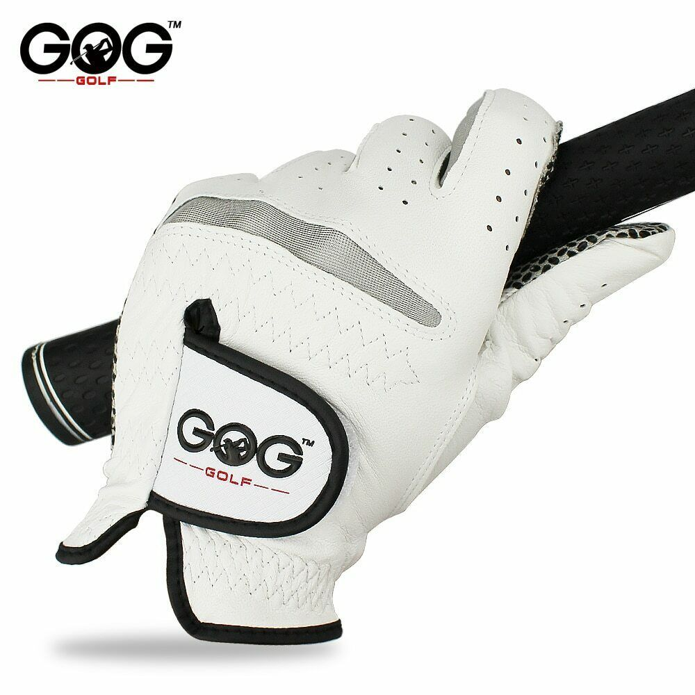Free Shipping Genuine Leather Golf Gloves Men's Left Right Hand Soft Breathable image 4