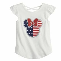 Disney's Minnie Mouse Girls size 10 Fourth of July Graphic Tee by Jumping Beans - $12.00