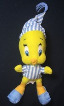 """TWEETY BIRD Plush Blue Striped Pajamas and Hat. Ace- Play by Play 1997 10"""" - $4.88"""