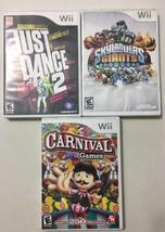 Wii Just Dance 2 Carnival Games Skylanders Giants Games - $14.84