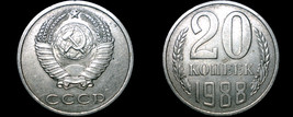 1988 Russian 20 Kopek World Coin - Russia USSR Soviet Union CCCP - $4.49