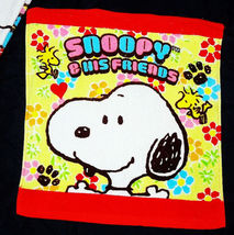 Snoopy Woodstock & His Friend 34 X 35 Cm Daily Easy Use Cotton Face Hand Towel - $8.88