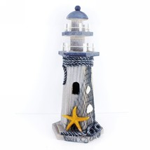 "Starfish Wooden Lighthouse Nautical Themed Rooms Lighthouse Home Decor 10""H - $17.59"
