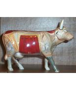 Cow Parade 9172 LA BOVENE Retired Ceramic Opera Theatre Curtain  Red Gol... - $22.00