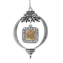 Inspired Silver Vintage Map Classic Holiday Decoration Christmas Tree Or... - $14.69