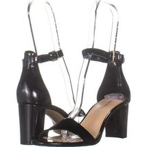 Nine West Pruce Ankle Strap Sandals 671, Black Patent, 7 US - $28.79