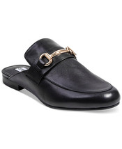 Steve Madden Kandi Slip-On Mules Slides Black Leather Loafer Flat Shoe S... - $77.38