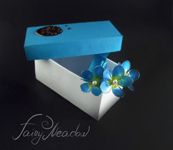 Blue Sky Forget Me Nots (Set of 3) Flowers Hair Pins Clips Bridal Kanzas... - $17.00