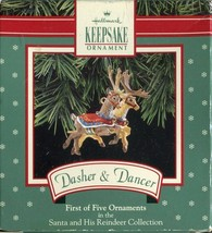 Hallmark Keepsake Ornament Dasher & Dancer First of Five Ornaments - $7.12