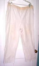 Koret White Shortie Capri Pants with Elastic Waist Size 1X - $23.74