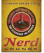 New Nerd Lounge Legendary Gaming Center Decorative Metal Tin Sign - $9.41