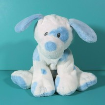 "Ty Pluffies Baby Pups Blue Spots White Puppy Dog 8"" Plush Sewn Eyes Lovey 2009 - $34.95"