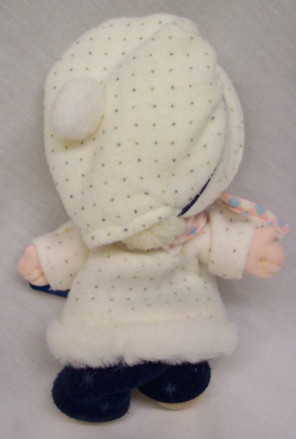 """Applause Precious Moments CUTE DOLL IN WINTER OUTFIT 7"""" Plush STUFFED DOLL Toy"""