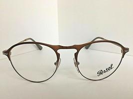 New Persol 7092-V 1072 50mm Rx Round Bronze Eyeglasses Frame  Italy - $179.99