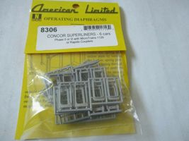 American Limited # 8306 Operating Diaphragms For ConCor Superliners Gray N-Scale image 5