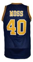 Randy Moss #40 Dupont High School Basketball Jersey New Sewn Navy Blue Any Size image 2