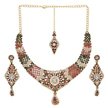 Indian Bollywood Wedding Bridal Fashion  Gold Plated Multi-Color Jewelry... - $22.52