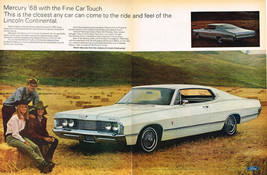 Vintage 1968 2-Page Magazine Ad Mercury The Ride & Feel of  Lincoln Continental - $5.93