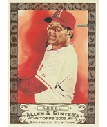 2009 Topps Allen and Ginter Code #296 Bobby Abreu  - $0.75
