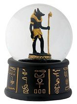 YTC 3.5 Inch Cold Cast Resin Egyptian Anubis Water Snow Globe Figurine - $16.33