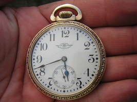 RARE Antique Ball Hamilton 23 Jewel Grade 999 Size 16 Pocket Watch WORKS... - $881.14 CAD