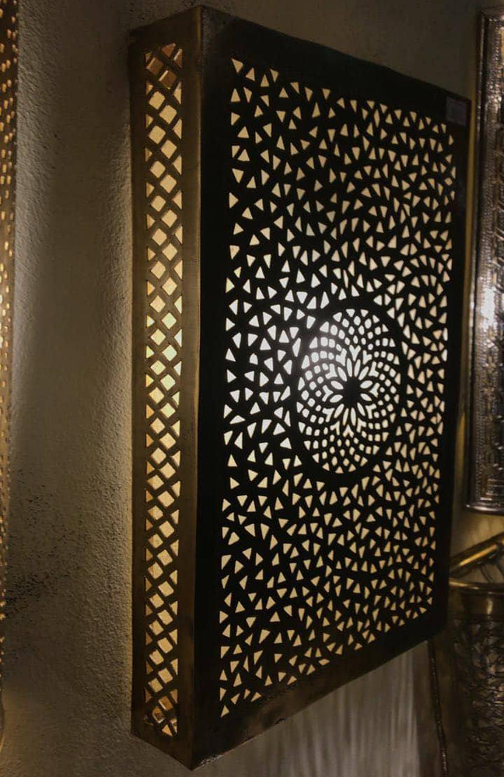 Wall light flush light brass moroccan wall and 20 similar items wall light flush light brass moroccan wall light fixture in antique brass lamp aloadofball Choice Image