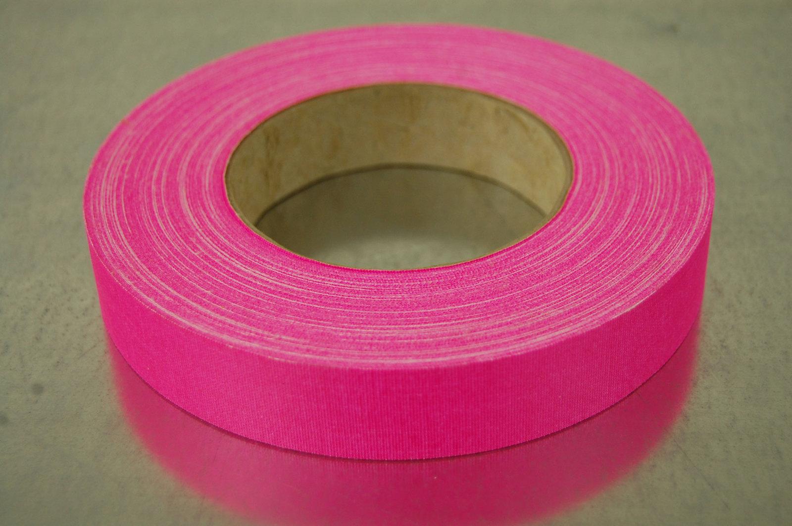 1 Inch Pink UV Blacklight Reactive Fluorescent Gaffer Tape 1 Roll x 50 yds