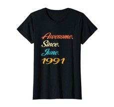 Uncle Shirts -   27th Birthday Gift Years old Awesome Since June 1991 Sh... - $19.95+
