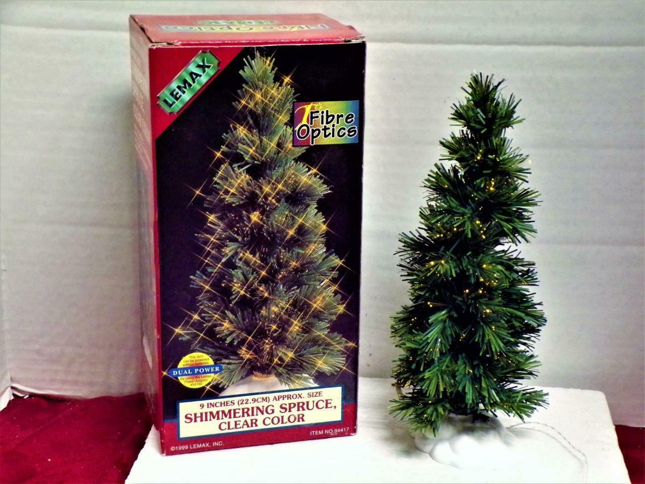 Primary image for Lemax Fibre Optics Shimmering Spruce-USED MINT