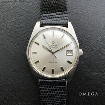 Omega Geneva Geneve self-winding vintage Men's Watch Watch Day Date Lizard belt - $1,158.37