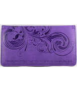 Checkbook Cover Purple I Can Do Everything Through Him Phil. 4:13 Brand NEW - $13.14