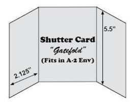 The Paper Cut Shutter Cards, 10 Blank Pre-Scored Cards with Envelopes, White