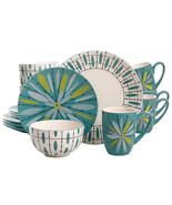 Studio California Luminescent Anza 16 Piece Round Stoneware Dinnerware S... - $96.97