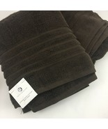 Hotel Collection Chocolate Brown Micro Cotton Bath Towel Lot Set of Two ... - $24.70