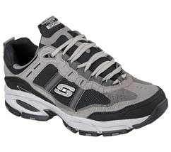 Skechers Wide Width shoes Men's Memory Foam Sport Comfort Sneaker 51241 EW CCBK - $47.49