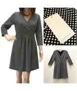 NEW Stitch Fix 41 Hawthorn Polka Dot Faux Wrap Dress Tag says L More Lik... - $15.70