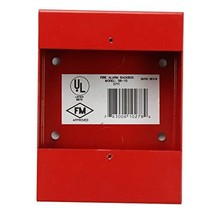 Fire Lite Alarms SB-10 Red Fire Alarm Pull Station Metal Surface Mount Back Box