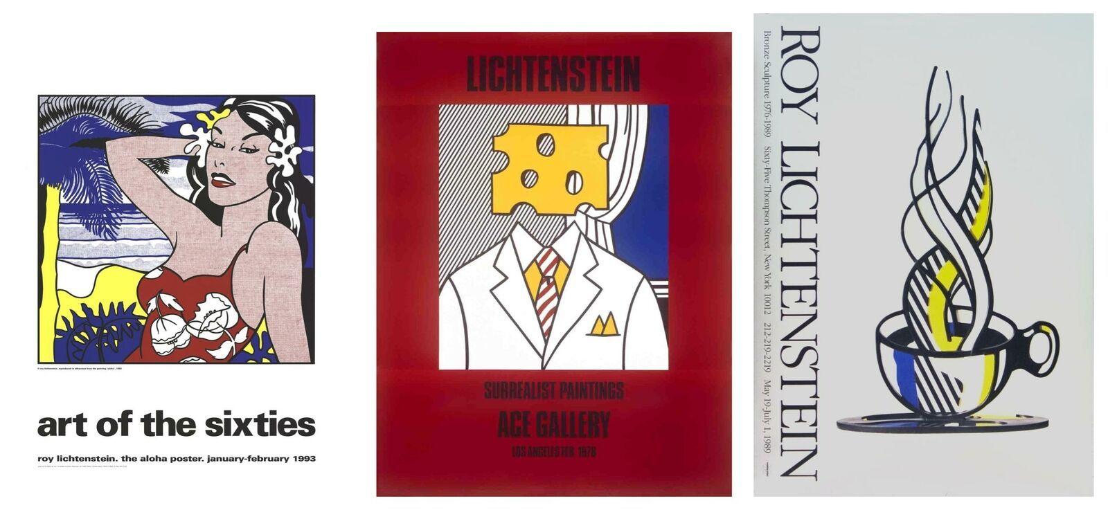 Bundle- 3 Assorted Roy Lichtenstein Original Billboard Posters - $1,377.93