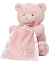 Baby GUND Peek-A-Boo My 1st Teddy Cream Bear Animated Plush Stuffed Anim... - $39.95