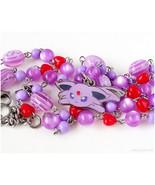Espeon Rosary Necklace, Eeveelution Necklace, Pokemon Necklace, Pokemon ... - $37.00