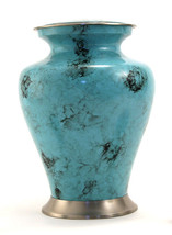 Large Funeral Cremation Urn for ashes, 200 Cubic Inches - Glenwood Blue ... - $154.99