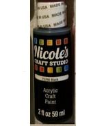 Nicoles Craft Studio BLACK Hobby Paint 2oz Interior Acrylic Squeeze Bott... - $5.59