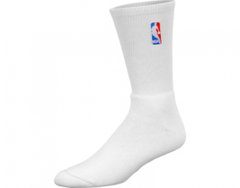 NBA Basketball white crew Socks Logoman - new - $10.39
