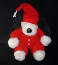 VINTAGE 1997 CHRISTMAS WISHPETS JUDD WHITE PUPPY DOG STUFFED ANIMAL PLUS... - $28.05
