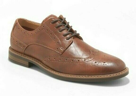 Goodfellow & Co. Brown Faux Leather Francisco Oxford Shoes 10.5 NWT